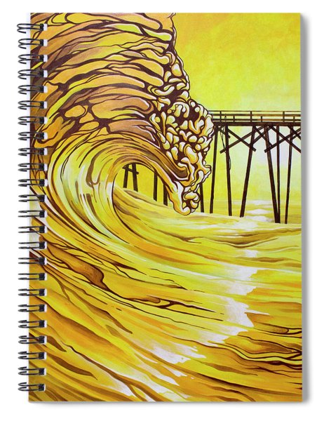 Carolina Beach North End Pier Spiral Notebook
