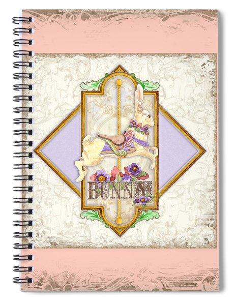 Carousel Dreams - Bunny Spiral Notebook