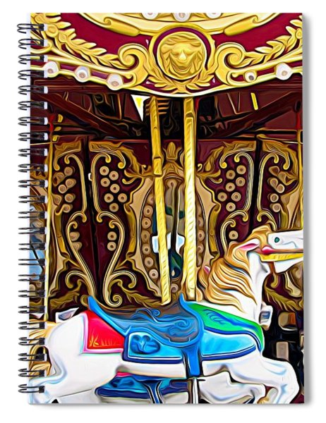 Carousel Erie County Fair 2017 Expressionist Effect Spiral Notebook