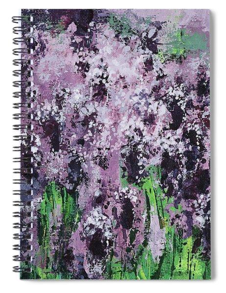 Carpet Of Lavender Spiral Notebook