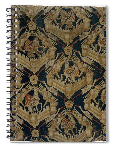 Textile Tapestry Carpet With The Arms Of Rogier De Beaufort Spiral Notebook