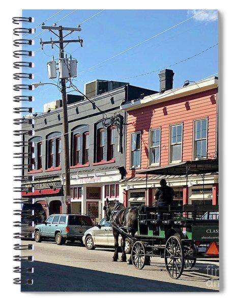 Carriage Spiral Notebook