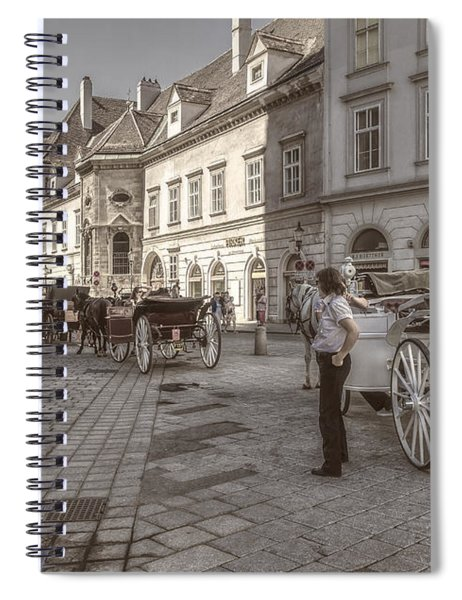 Carriages Back To Stephanplatz Spiral Notebook