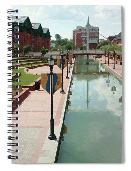Carroll Creek Park In Frederick Maryland With Watercolor Effect Spiral Notebook