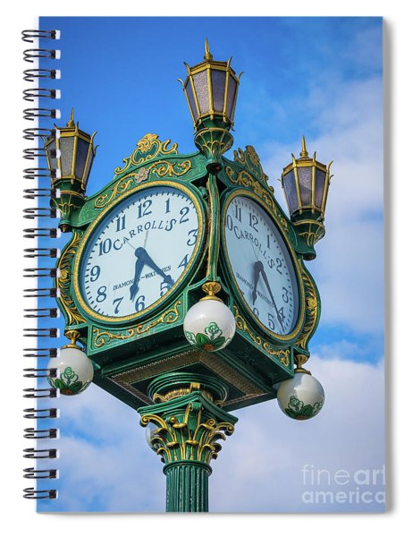 Carrolls Jewelers Clock Spiral Notebook
