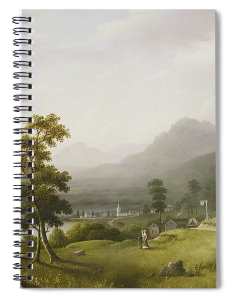Carter's Tavern At The Head Of Lake George Spiral Notebook