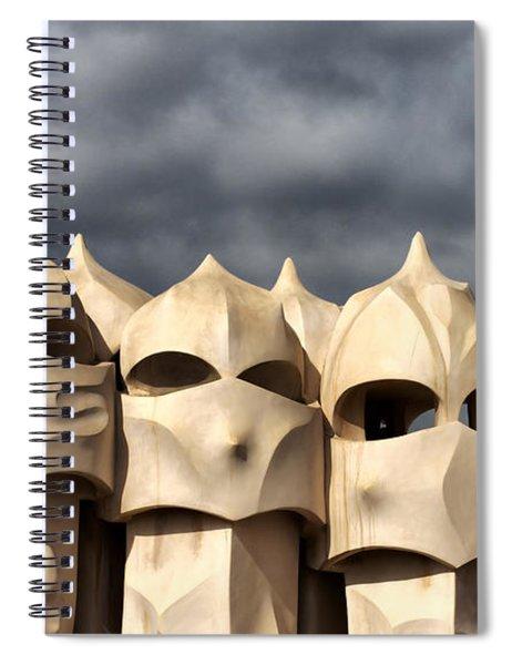 Casa Mila Masks Spiral Notebook