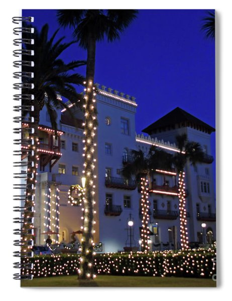 Casa Monica Inn Night Of Lights Spiral Notebook