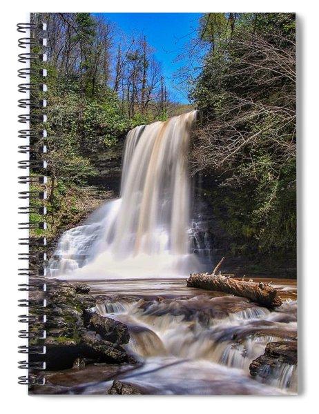 Cascade Falls In Spring Spiral Notebook