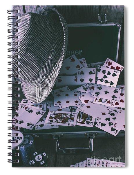 Case Of A Gambling Pro  Spiral Notebook