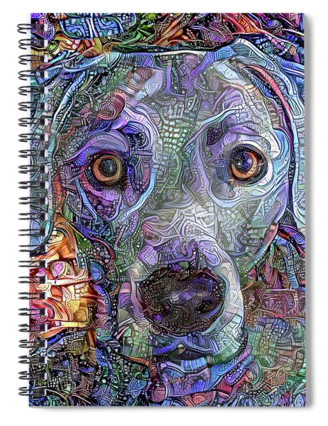 Cash The Blue Lacy Dog Closeup Spiral Notebook