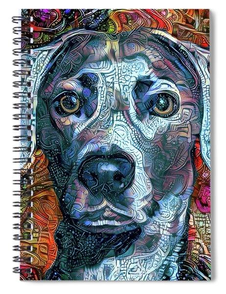 Cash The Blue Lacy Dog - Cropped Spiral Notebook
