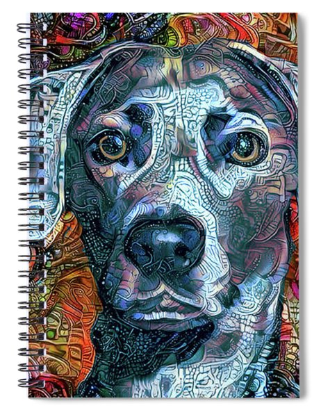 Cash The Blue Lacy Dog Spiral Notebook