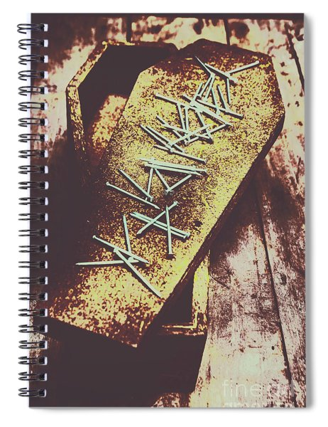 Casket Closing Spiral Notebook