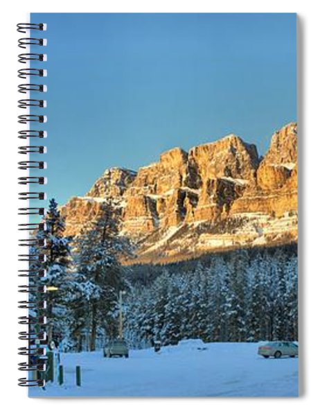 Castle Mountain Over The Chalets Spiral Notebook