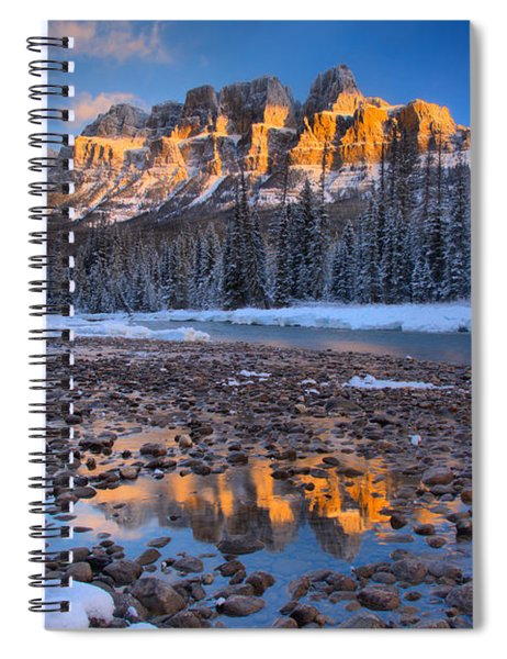Castle Mountain Sunrise Reflections Spiral Notebook