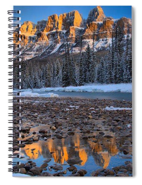 Castle Mountain Winter Sunrise Spiral Notebook