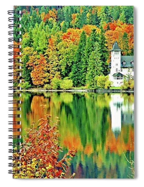 Castle On The Lake, Lake District, Salzburg, Austria Spiral Notebook