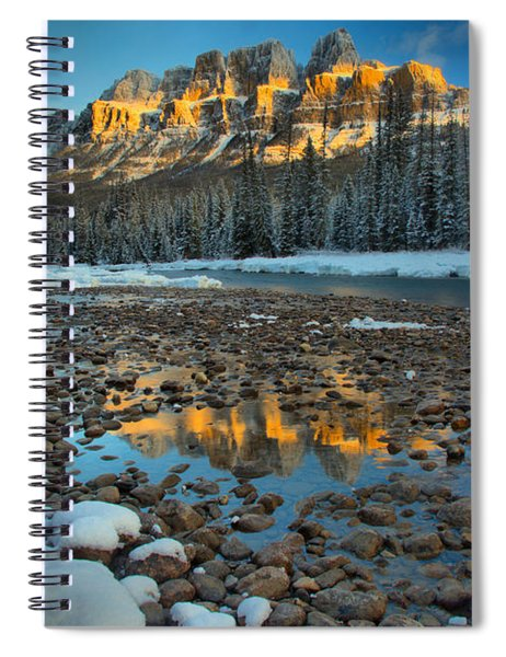 Castle Reflections Along The Rocky Banks Spiral Notebook