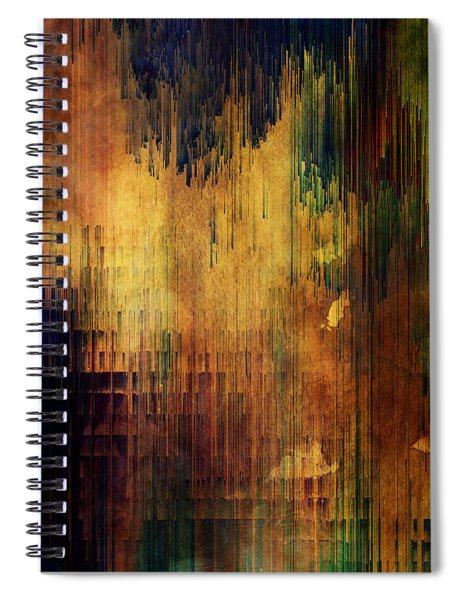 Castle View Planet Pixel Spiral Notebook