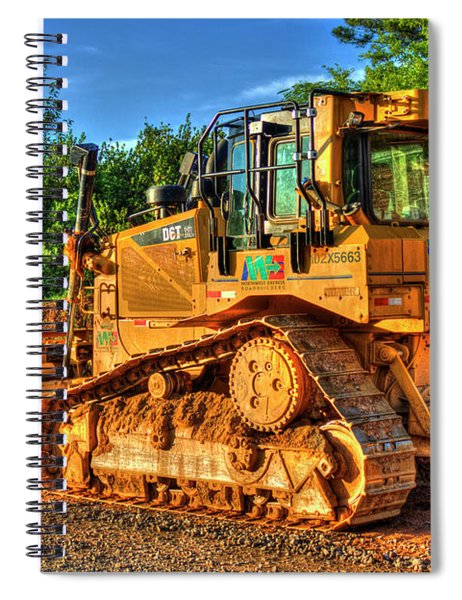 Cat 6t Xl Bulldozer Construction Art Spiral Notebook