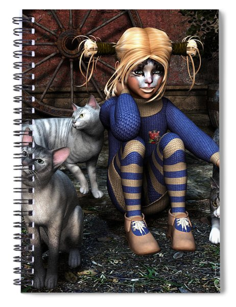 Cat Girl Spiral Notebook