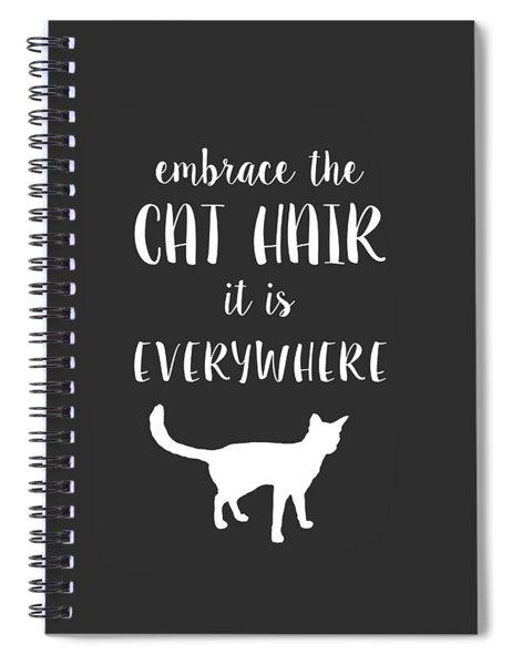 Cat Hair Spiral Notebook