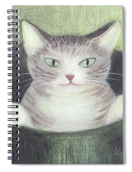 Cat In A Bucket Spiral Notebook