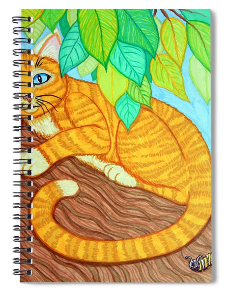 Cat In A Tree Spiral Notebook