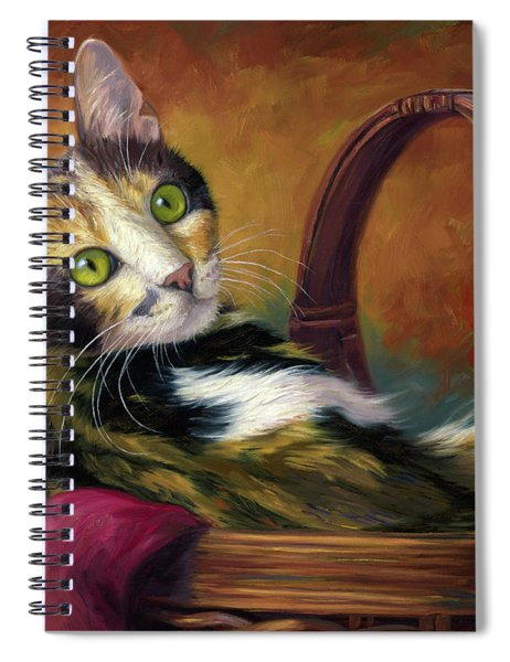 Cat In The Basket Spiral Notebook
