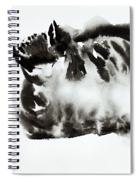 Cat Meditation Spiral Notebook