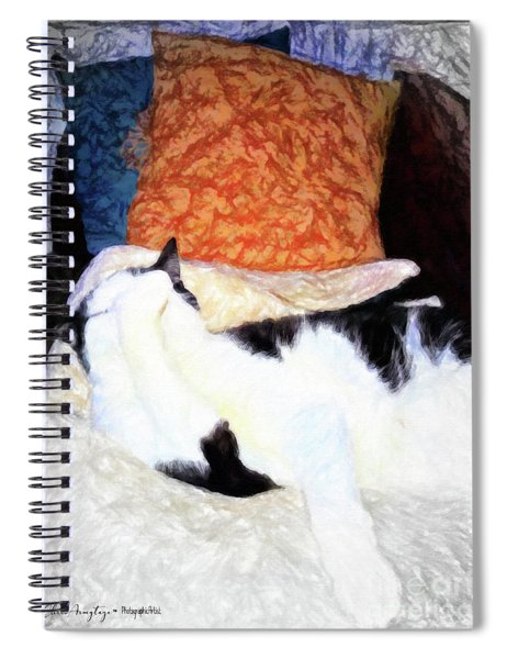 Cat Nap - Zen And The Art Of Washing Spiral Notebook