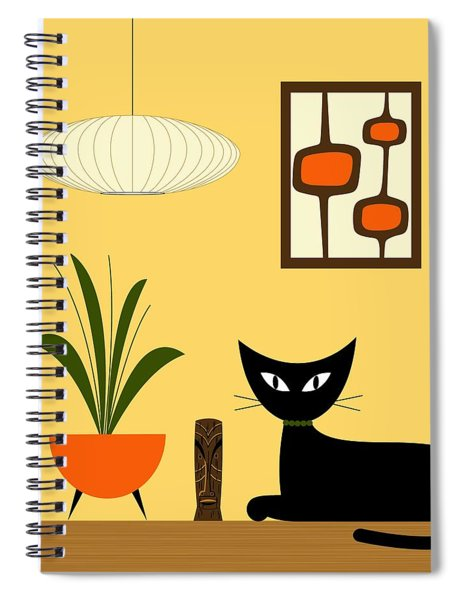 Cat On Tabletop With Mini Mod Pods 3 Spiral Notebook