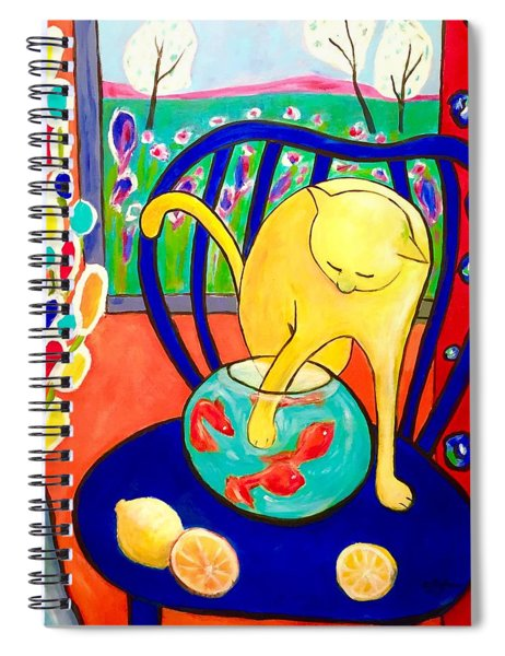 Cat - Tribute To Matisse Spiral Notebook