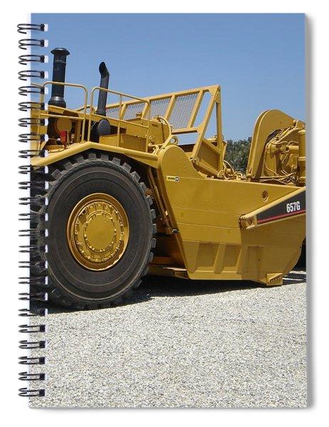 Caterpillar 657g Motor Scraper Spiral Notebook
