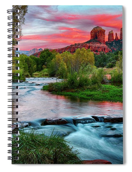 Cathedral At Sunset Spiral Notebook