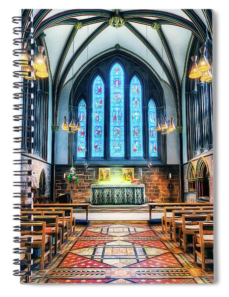 Cathedral Glow Spiral Notebook