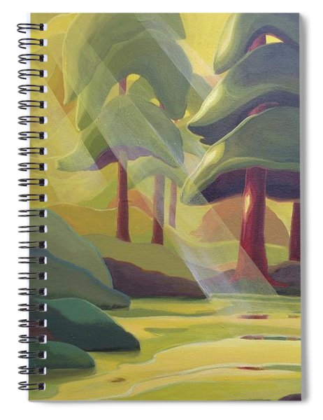 Cathedral Light Spiral Notebook