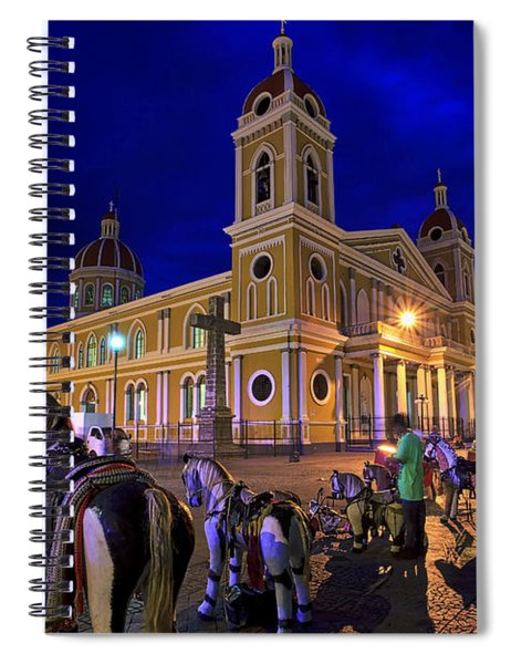 Cathedral Of Granada Shines Brightly Spiral Notebook