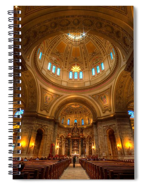 Cathedral Of St Paul Wide Interior St Paul Minnesota Spiral Notebook