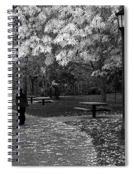Cathedral Park In Fall Bw Spiral Notebook