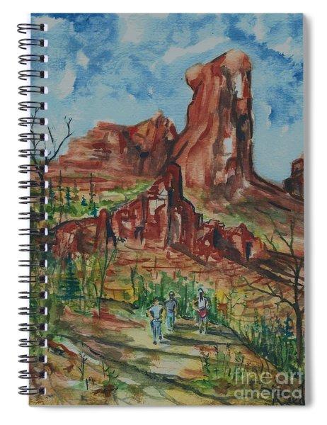 Hiking Cathedral Rock,  Sedona, Az. Spiral Notebook