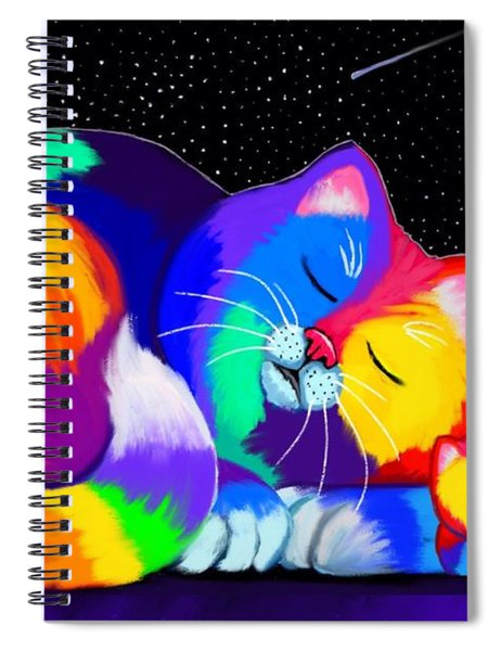 Catnaps For Two Spiral Notebook