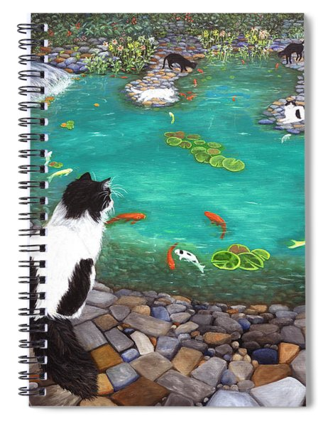 Cats And Koi Spiral Notebook