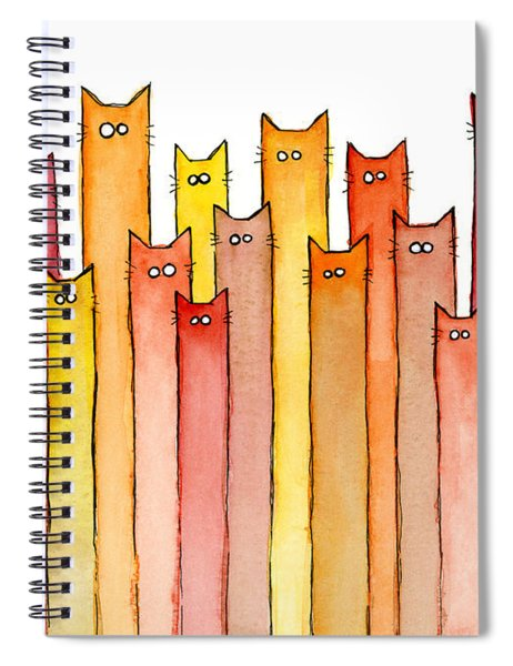 Cats Autumn Colors Spiral Notebook