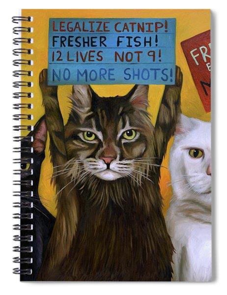 Cats On Strike 2 Spiral Notebook