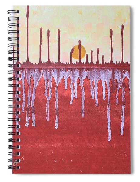 Cattails Original Painting Sold Spiral Notebook