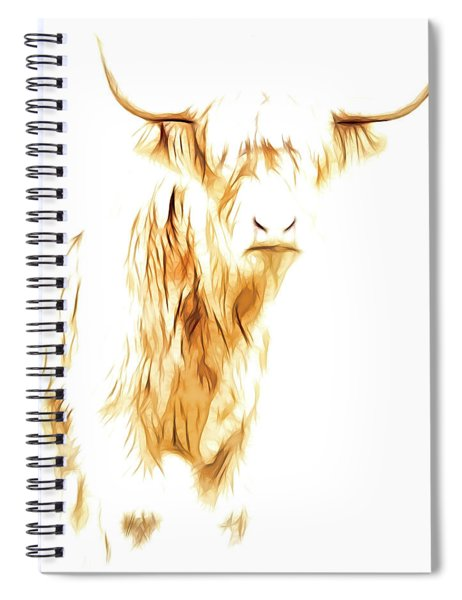 Cattle Art Spiral Notebook