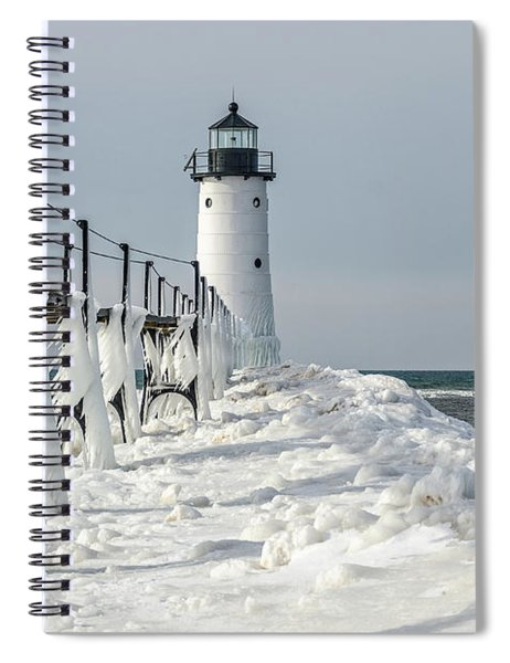 Catwalk With Icy Fringe - Horizontal Version Spiral Notebook