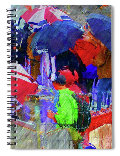 Caught In A Shower Spiral Notebook